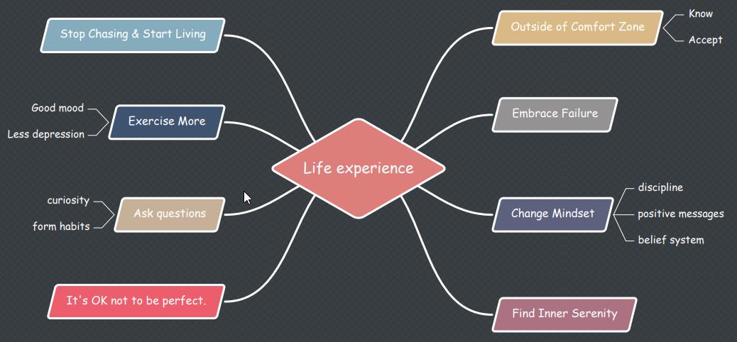 Lebenserfahrung-Mind Map