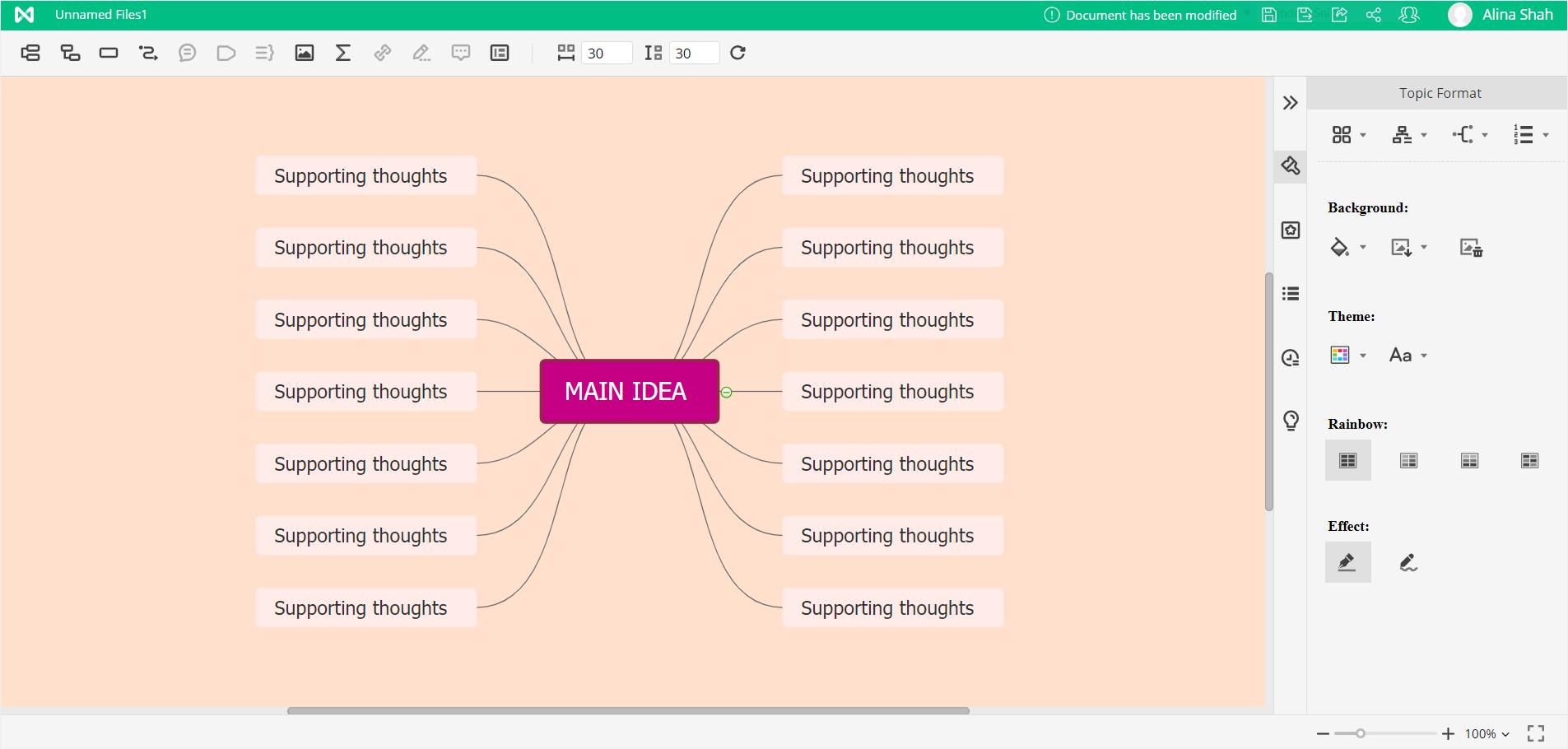 mindmaster customize mind map