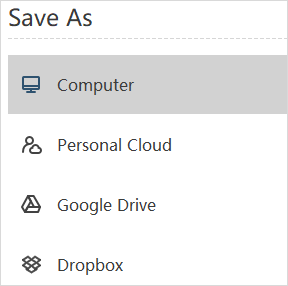 save options