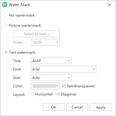 watermark window
